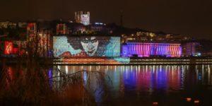 A l'occasion des fêtes des lumière à Lyon.